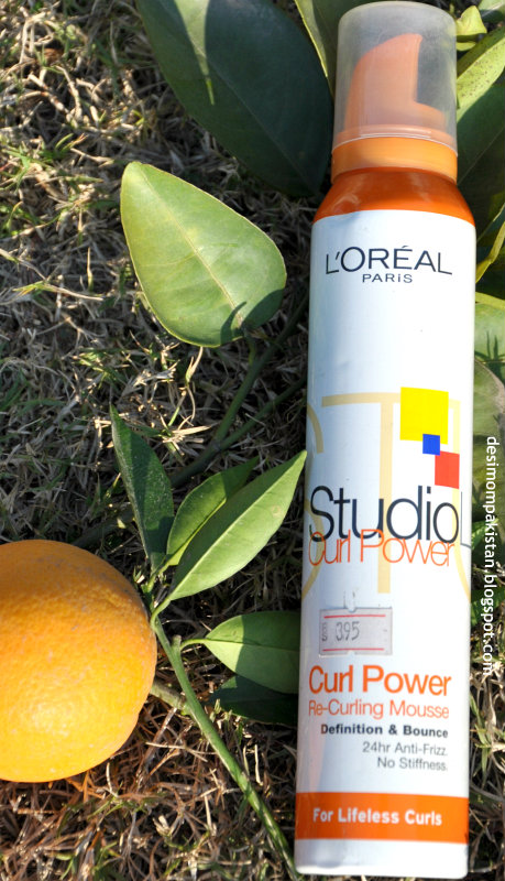 L'OREAL  STUDIO CURL POWER RE-CURL MOUSSE closeup