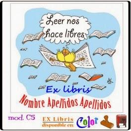 EXlibris Creativos (C5) Gato volando ( leer nos hace más libres)