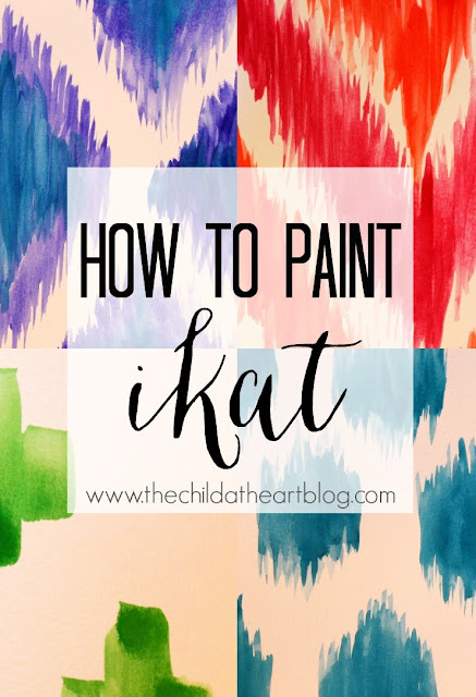 What I'm Loving Right Now: Ikat. Incorporate this trend into your home with this Ikat painting tutorial!