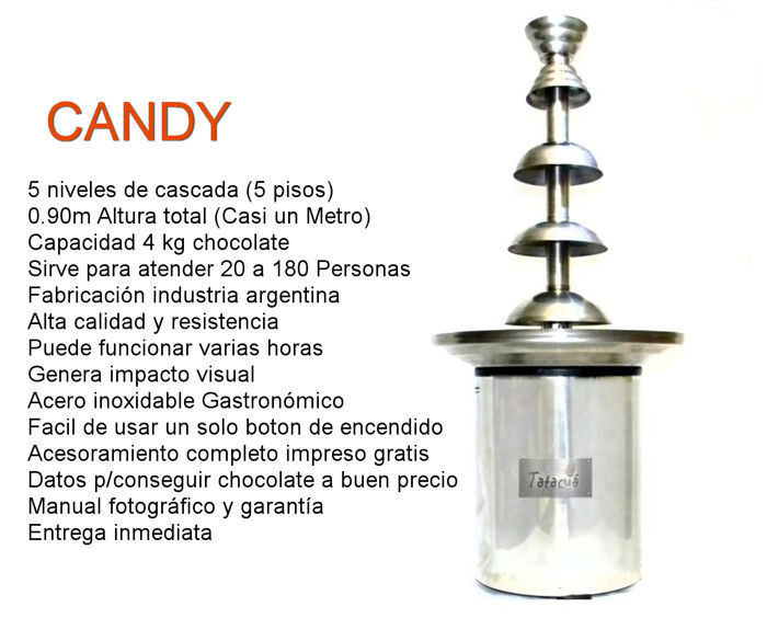 CANDY  CASCADA FUENTE FONDUE VENTA