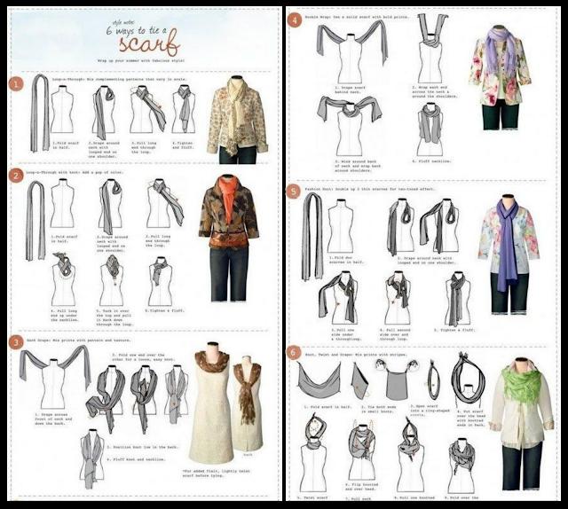6 maneras de ponerse una bufanda / pañuelo