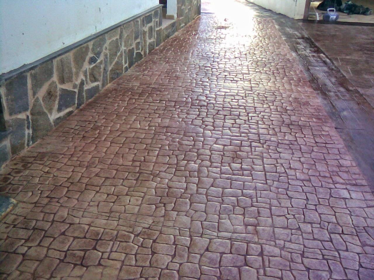 Hormig n impreso en el villar pavimentos continuos de for Quitar hormigon impreso
