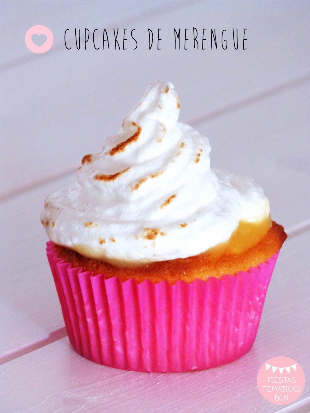 receta cupcakes de merengue