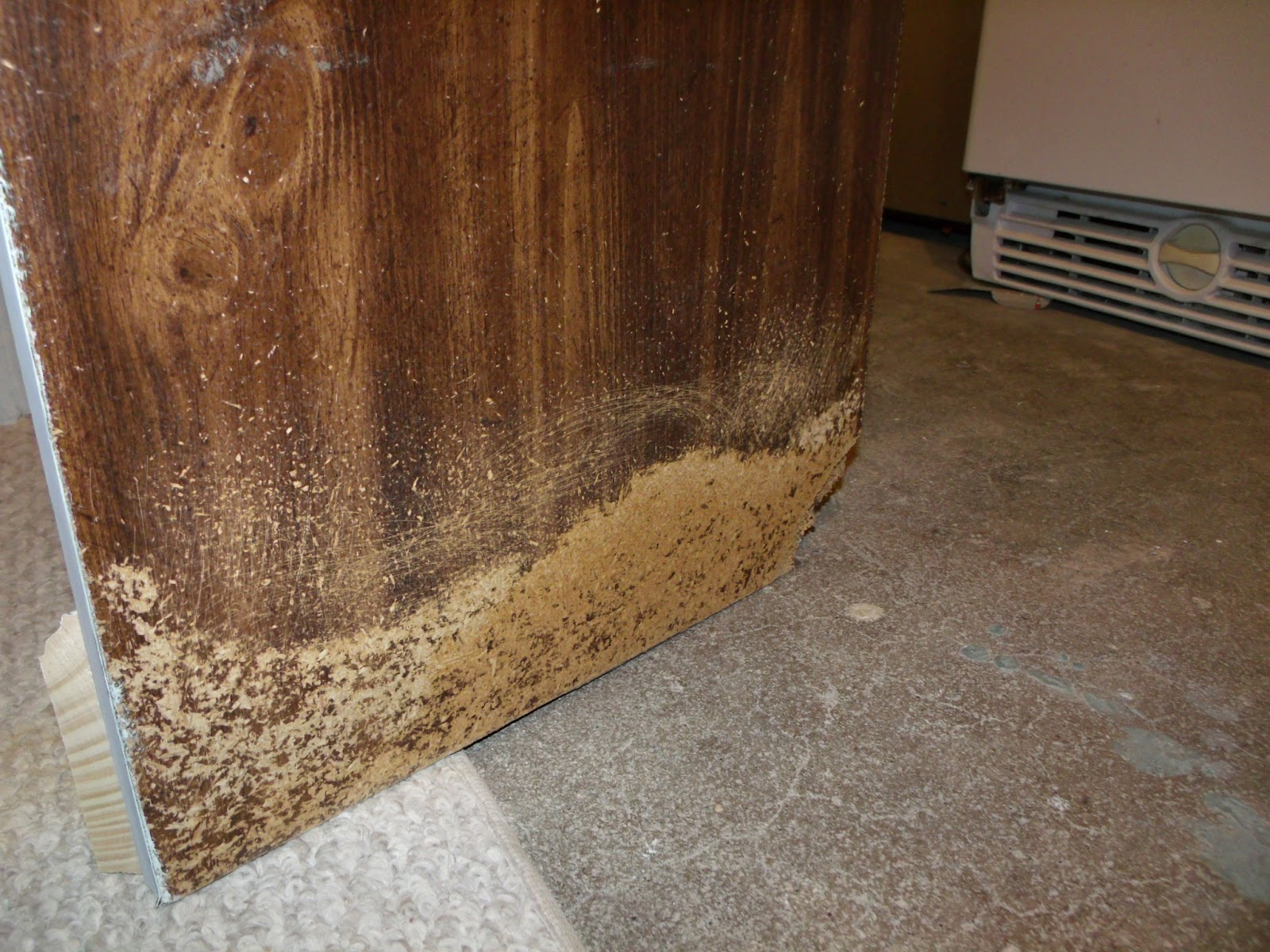 how to fix water damaged particle board