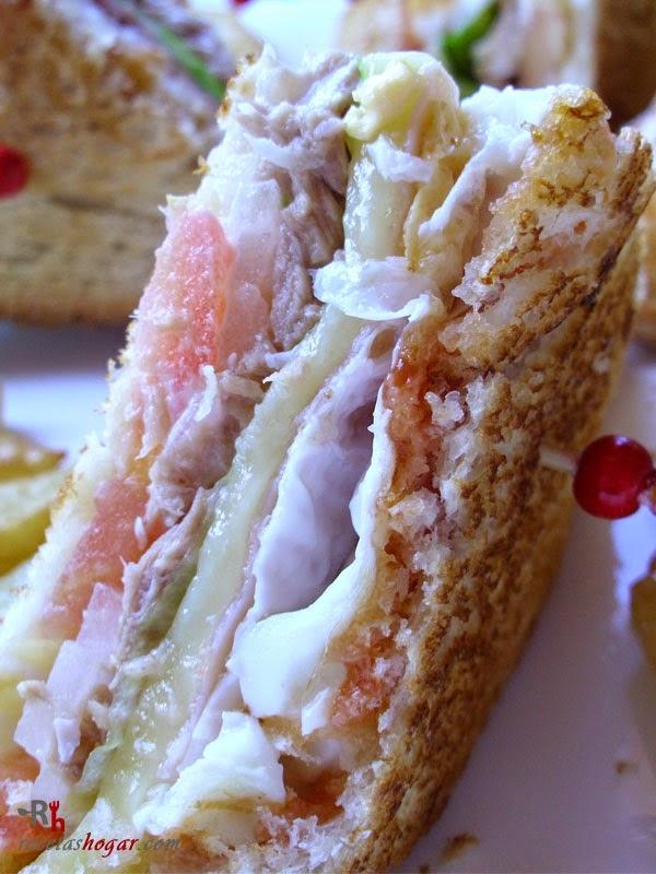 Sándwich especial de atún jugoso