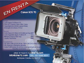 Renta de Canon 7d desde $2200