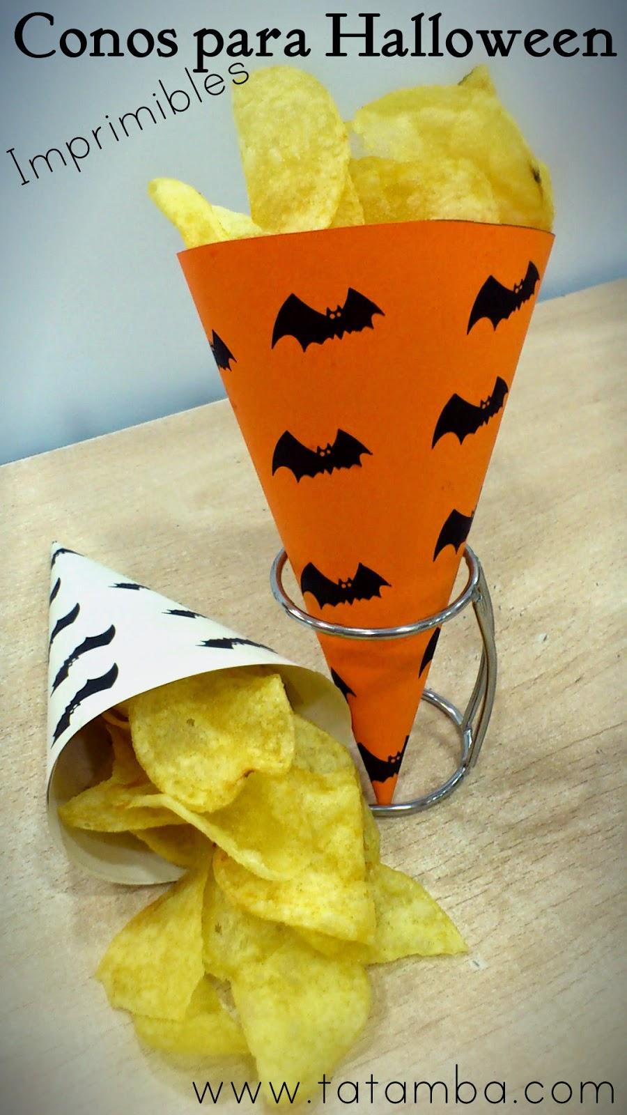 Conos para halloween imprimibles somosdeco blog de for Decoracion halloween barata