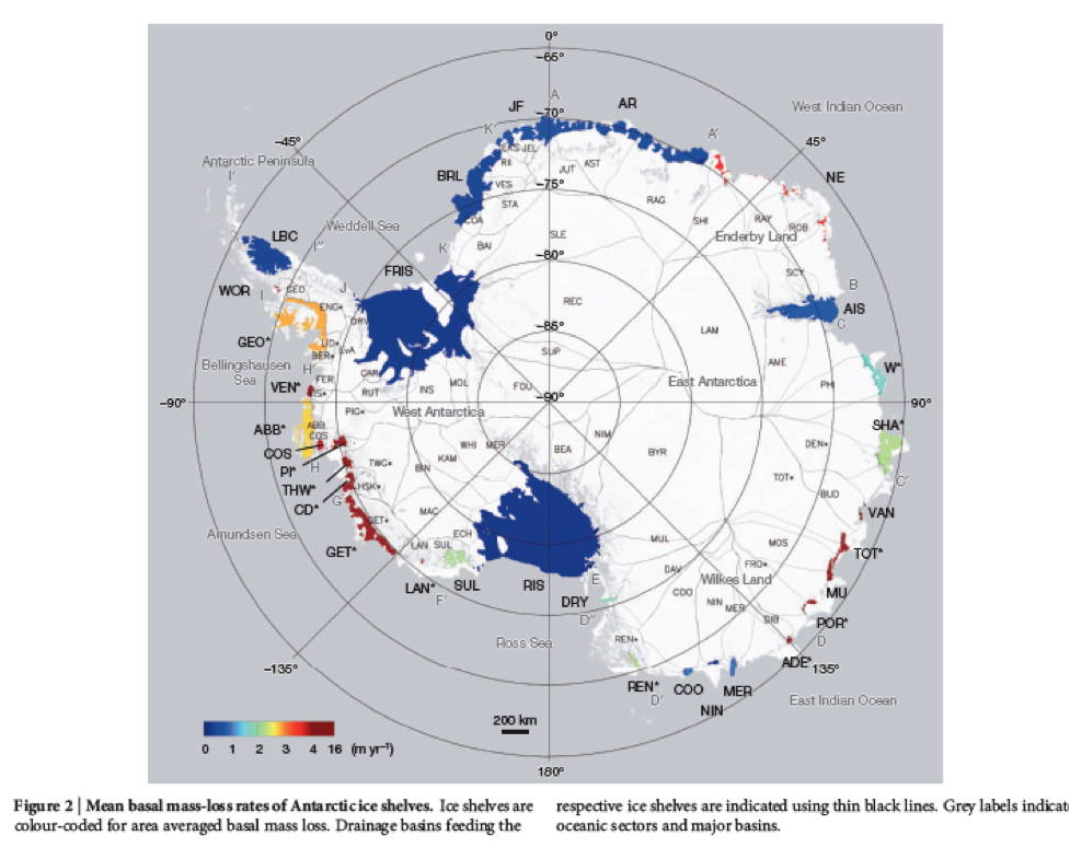 Antarctic Basal Melt Hot Spots Vanishing Ice All Natural