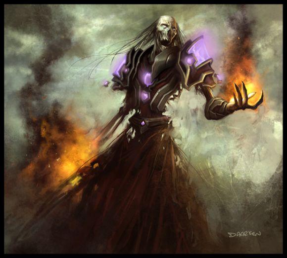 mike lim daarken ilustrações fantasia medieval violência batalhas monstros arte conceitual video games Necromancer
