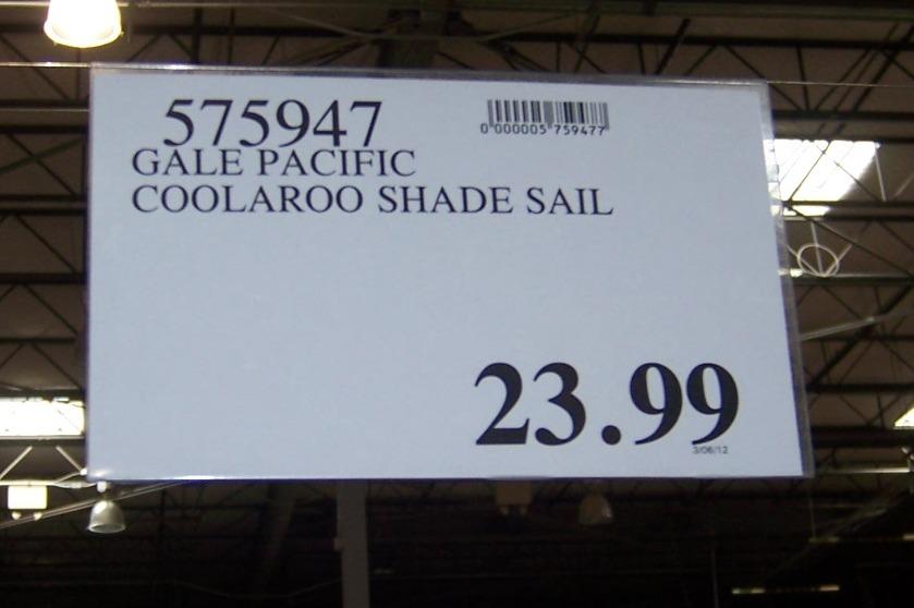 The 2 minute gardener photo shade sail at costco for Shade sail cost