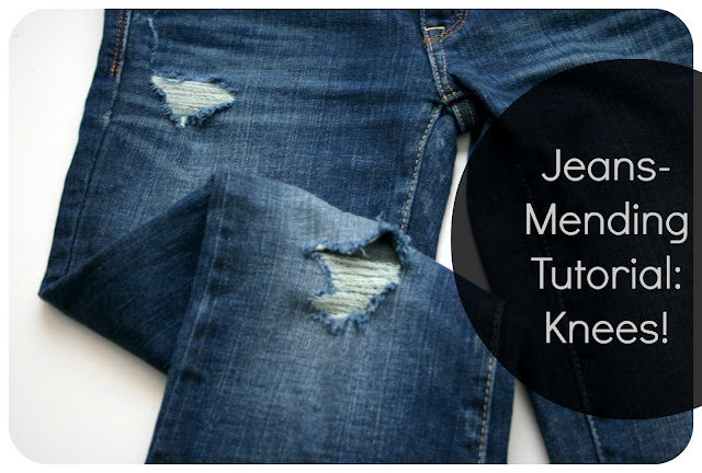 Tutorial update How to mend jeans when the holes are in the knees / Create / Enjoy