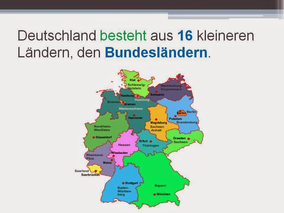 free german deutsch lernen kostenlos die bundesl nder. Black Bedroom Furniture Sets. Home Design Ideas