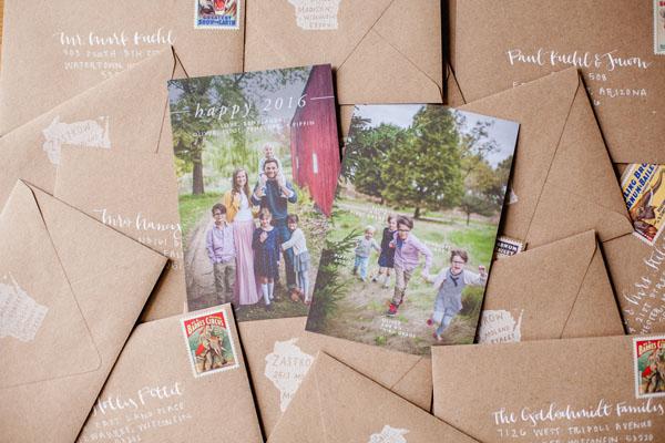 GotPrint.com holiday cards and envelopes