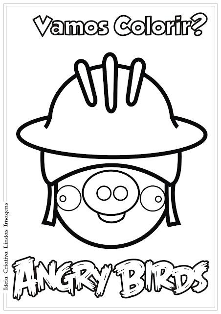 Desenho Angry Birds para colorir
