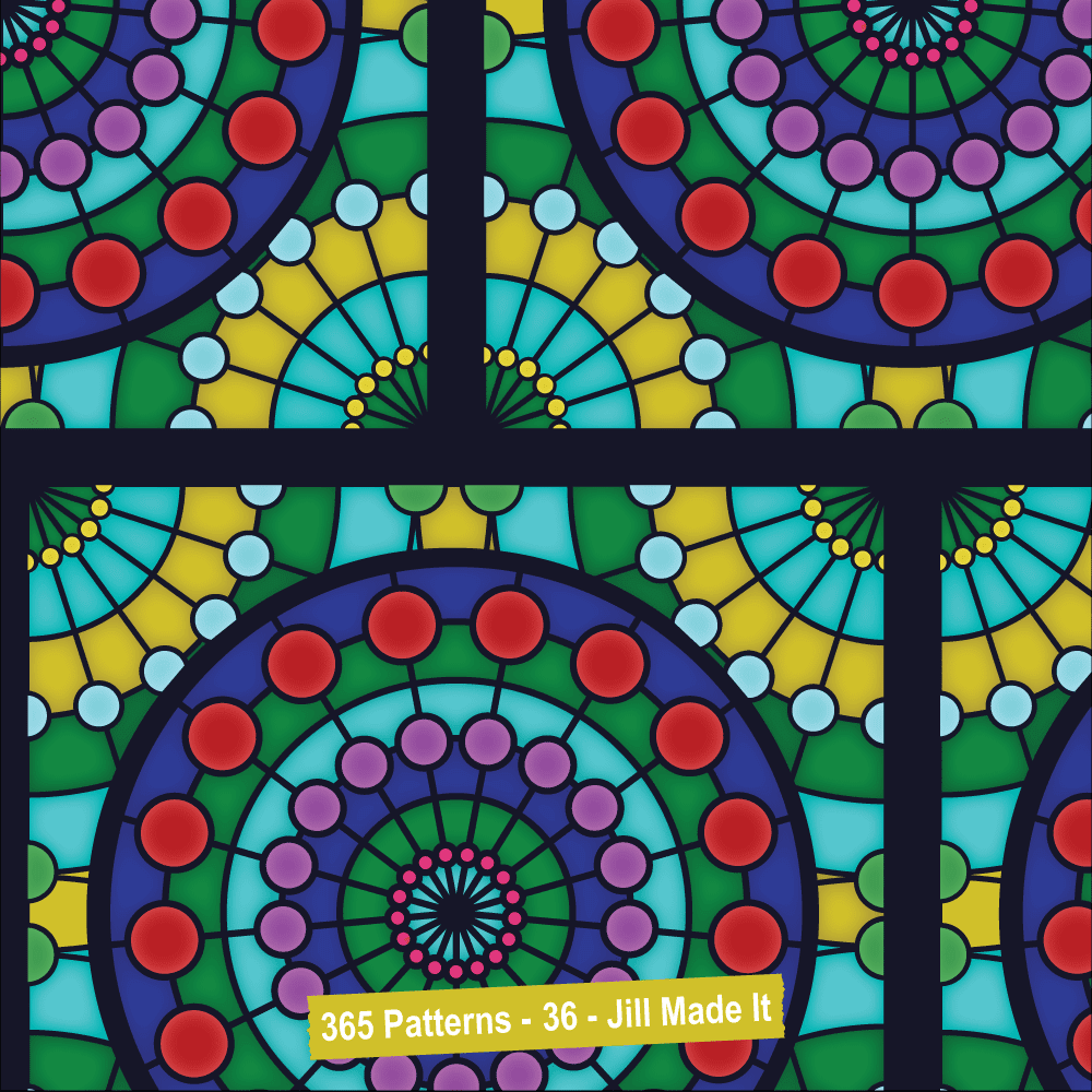Easter Patterns:  Stained Glass Windows | Jill Made It