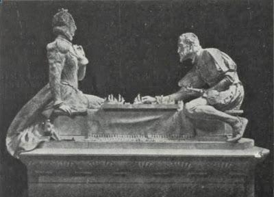 La reina Elisabeth de Inglaterra y el rey Felipe II de España jugando al ajedrez
