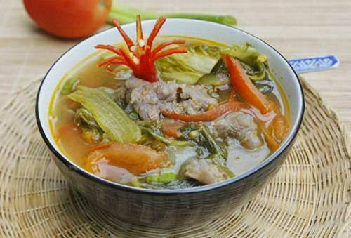 Pickled Vegetables Soup with Beef - Canh cải chua thịt bò