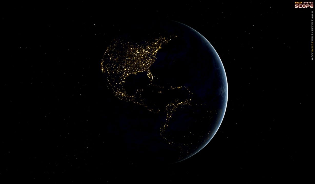 Nexus   True Earth America Night Wallpaper