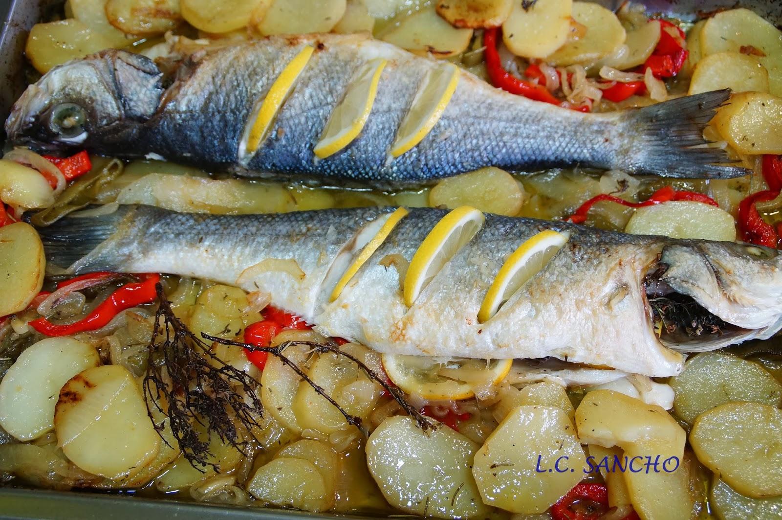 Cocinar Lubina Al Horno | Con Maria En Su Cocina Lubina Al Horno Con Patatas Panaderas