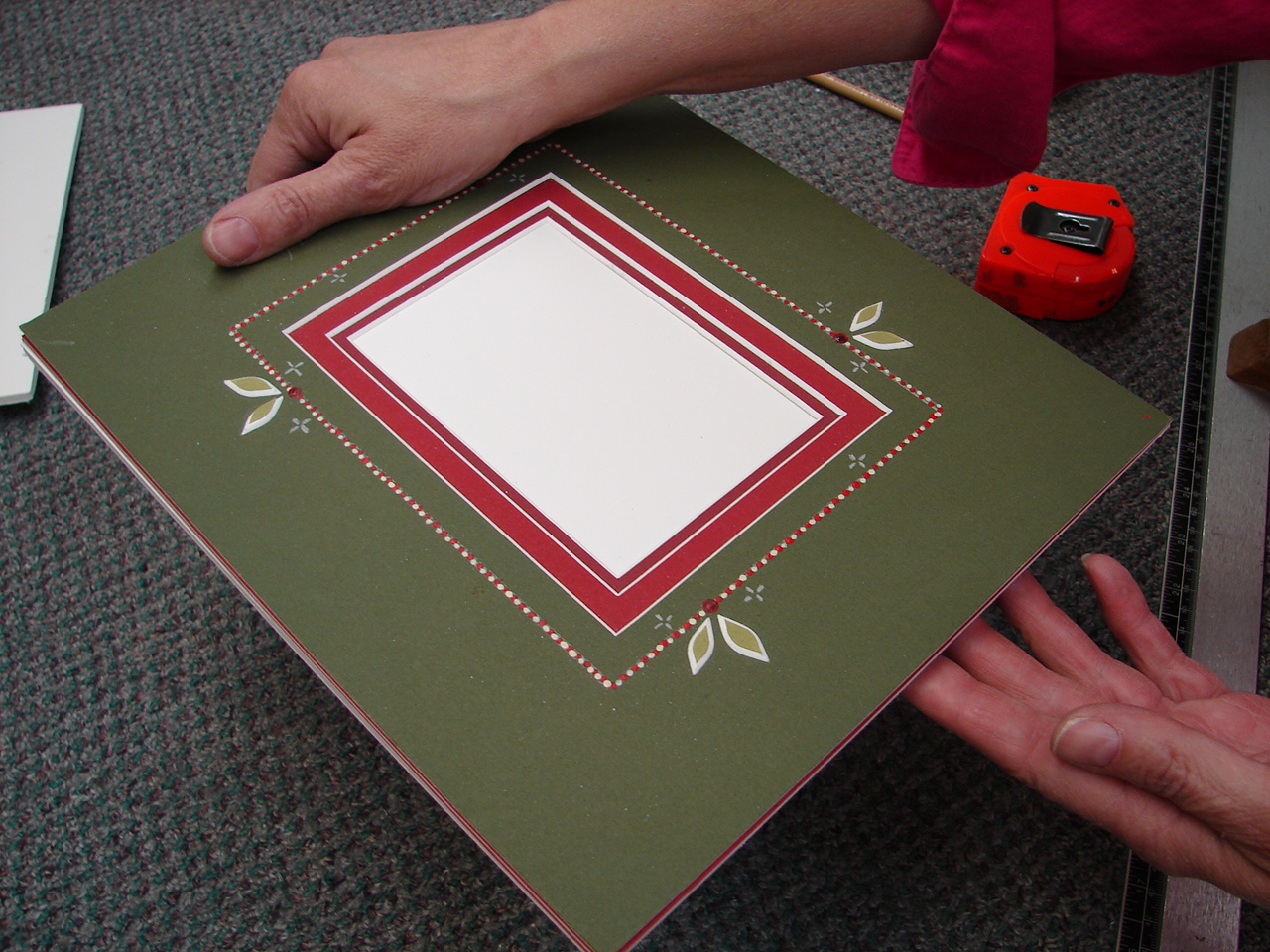 Rensel Studio : How to stretch a cross stitch for matting