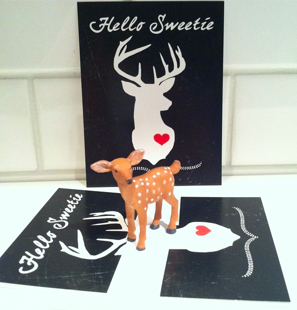 Hello Sweetie Chalkboard Postcard from The Blog Guidebook