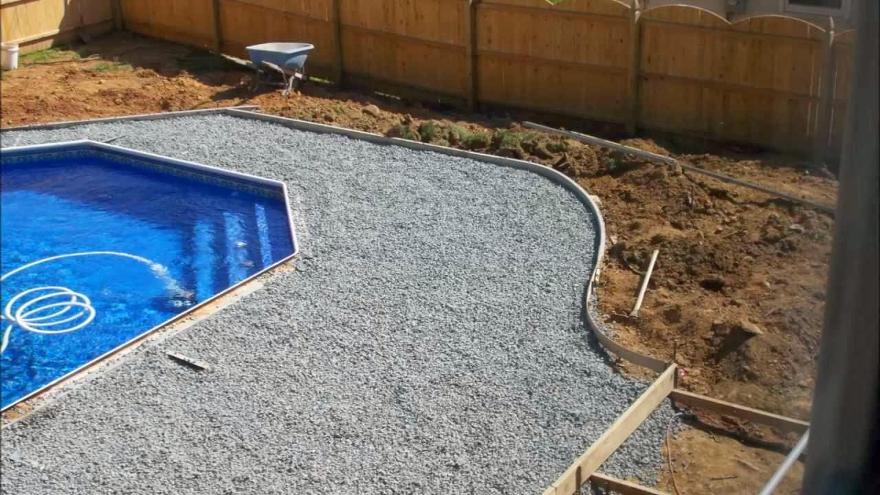 what to expect during the vinyl liner in ground pool building