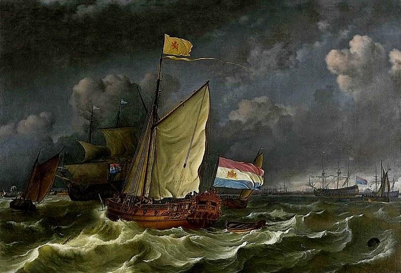 Ludolf+Bakhuizen+A+States+Yacht+On+The+I