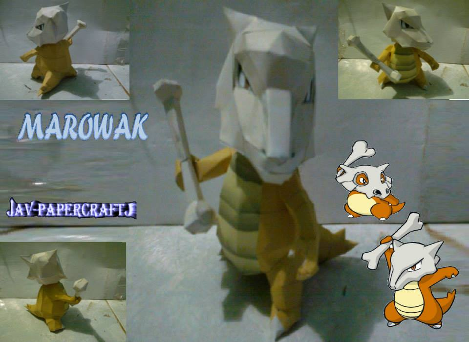 Pokemon Marowak Papercraft