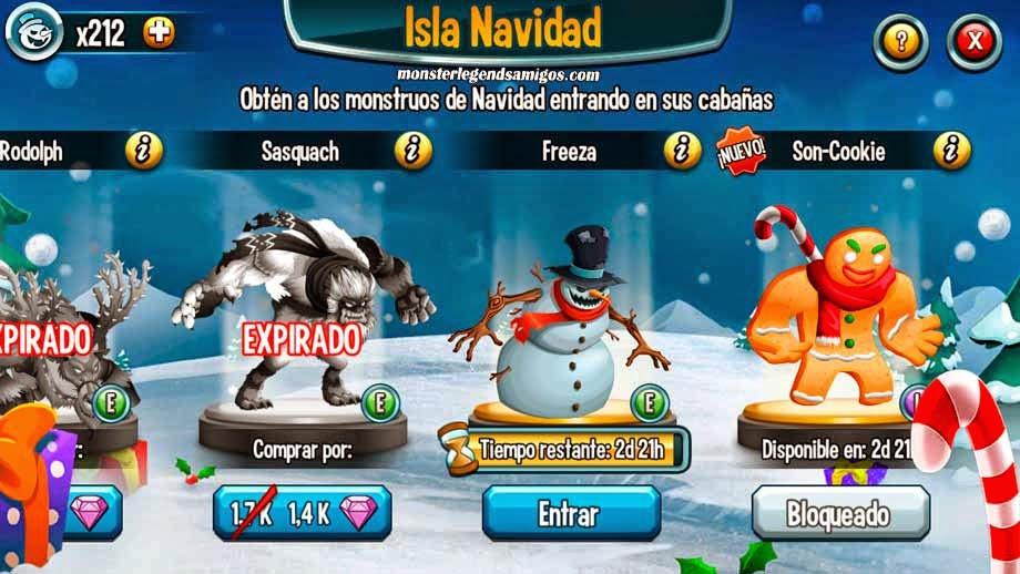 imagen de la cuarta guarida de la isla navidad de monster legends