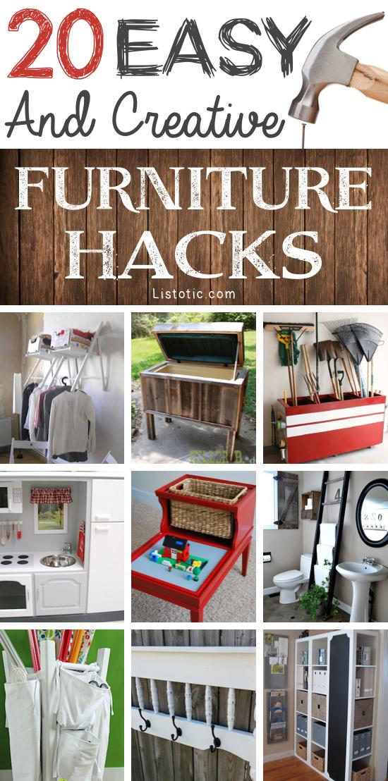 Amazing World: 20 Creative DIY Furniture Hacks