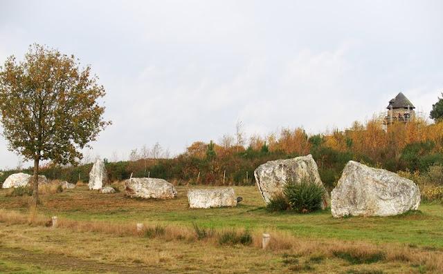 Landes de cojoux, file nord des alignements du Moulin
