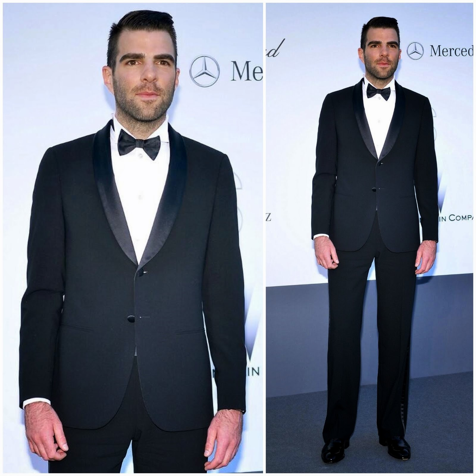 00O00 Menswear Blog: Zachary Quinto in Giorgio Armani - amfAR's Cinema Against AIDS Gala 2013