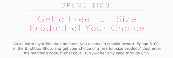 Choose Your Free Full Sized Gift at BirchBox with Coupon Codes!