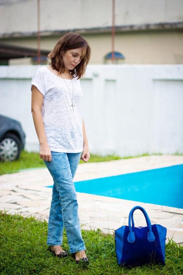 Look blusa devorê + Calça jeans