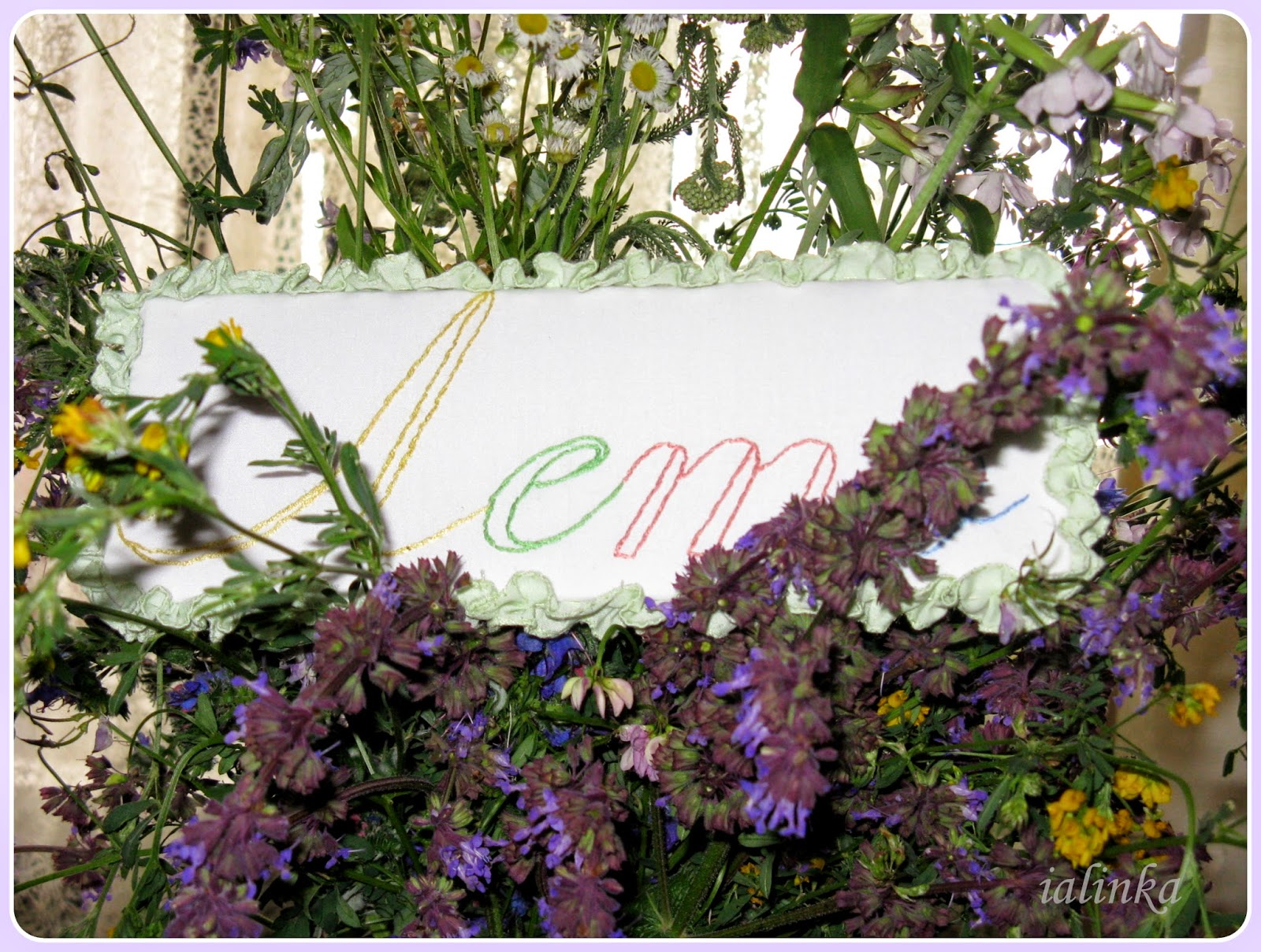 вышивка лето полевые цветы