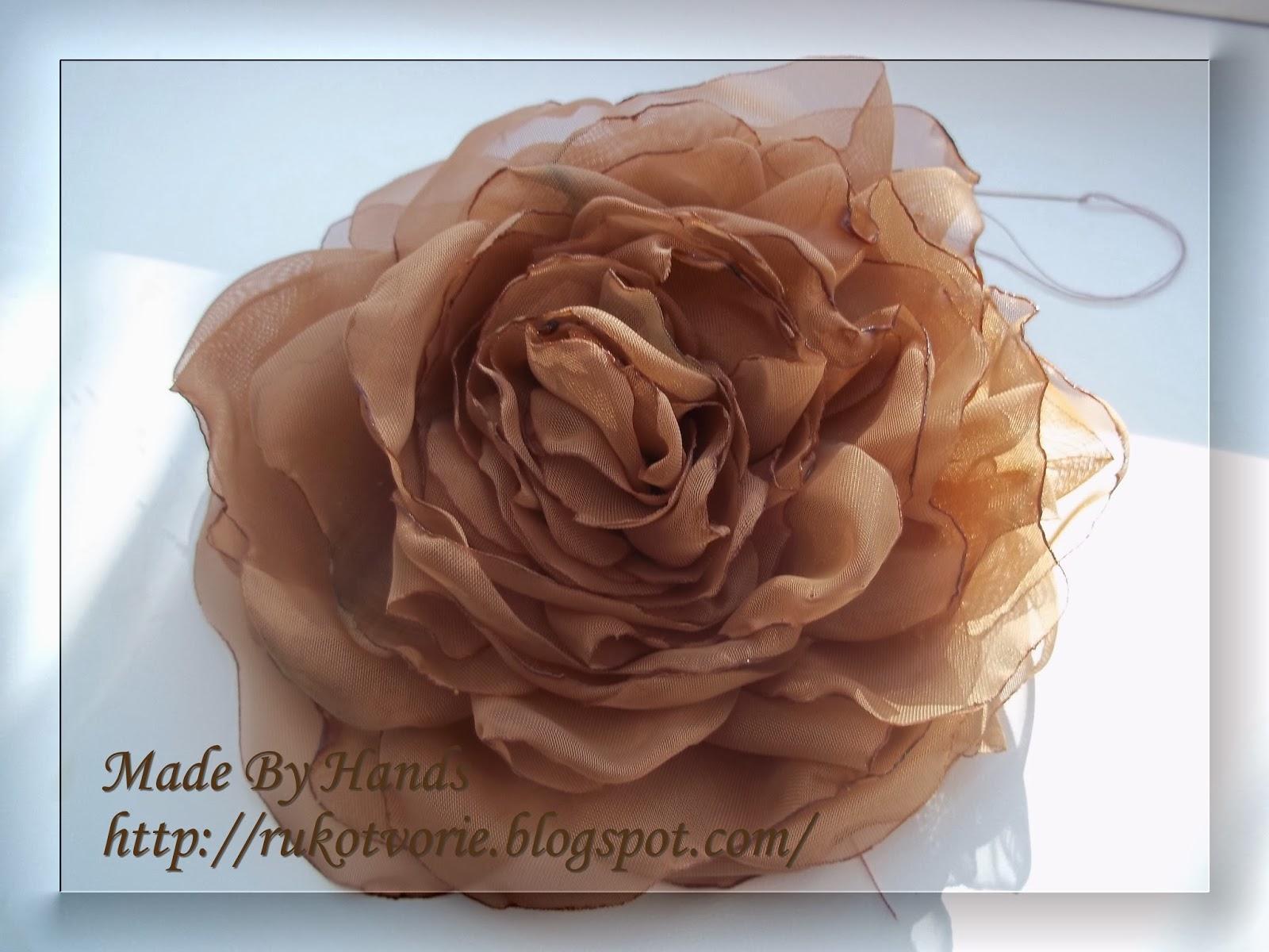 Розы из ткани своими руками фото пошагово