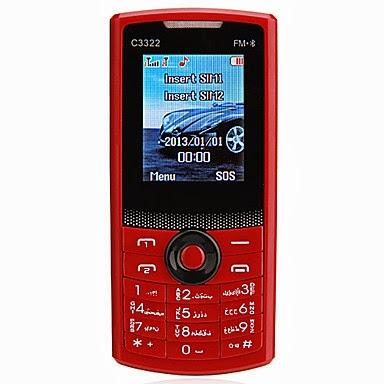 C3322 Móvil con Teclado Bluetooth Doble SIM