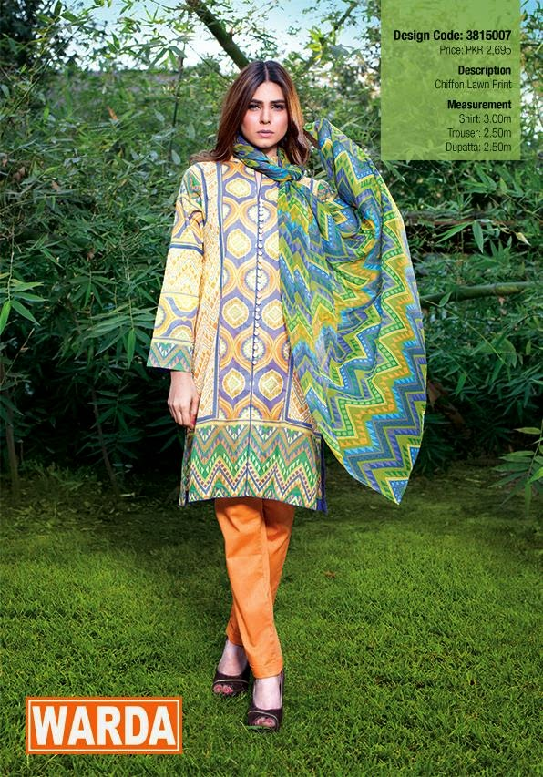 Warda lawn collection 2015