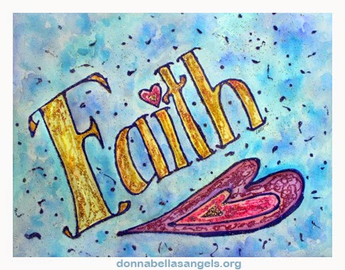 Faith Word Inspirational Art Painting