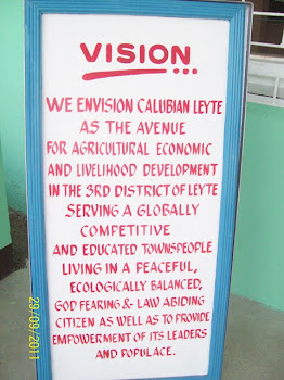 CALUBIAN LGU'S VISION. . .