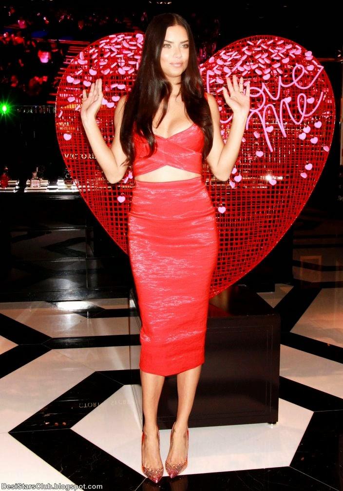 Adriana Lima Kicking off Valentine's Day Festivities at Victoria's Secret Store in Las Vegas