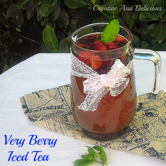 Very Berry Iced Tea ~ Best Fruity Iced Tea for all to enjoy ~ even the kids love this one ! #IcedTea #Drinks #BerryDrink