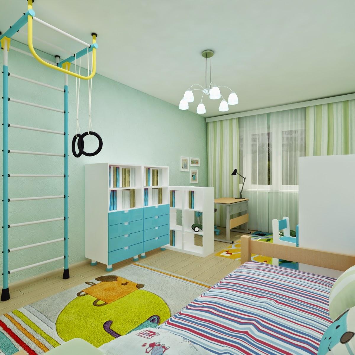 Дизайн детской для мальчиков разного возраста