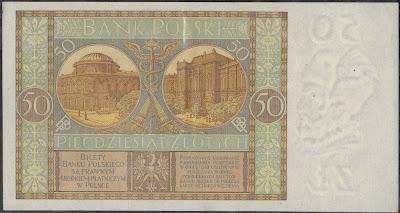 Polonia 50 Zlotych 1929 P# 71