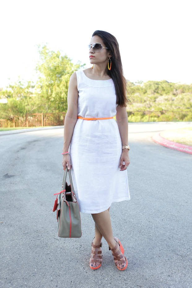 white dress office wear linen tailormade tanvii.com