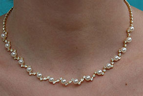 pearl wedding necklaces