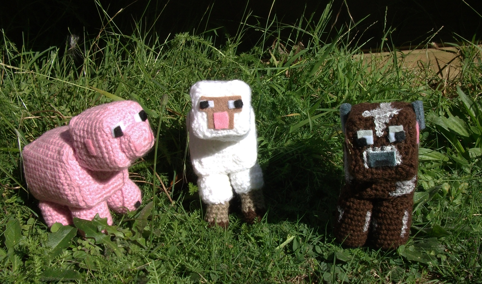 Amie\'s Ami: Minecraft Pig, Sheep and Cow Pattern