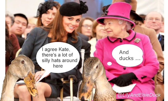 The Princesses discuss the hats on show