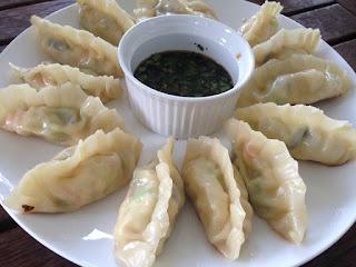... dumplings. Photo by me, I made the dumplings, my partner made the