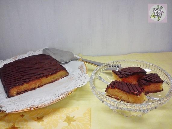 Turrón Vegano de Mazapán de Ángel a la Mandarina con Cobertura de Chocolate.